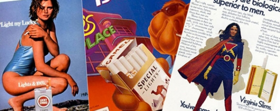 Advertising cigarettes to women and children